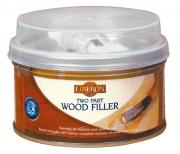 Two-part Wood Filler - A hardwearing wood substitute used to reconstitute missing sections of wood.