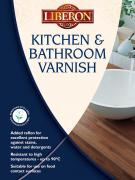 Kitchen and Bathroom Varnish - Specially formulated, water based varnish that is resistant to both water and high temperatures.